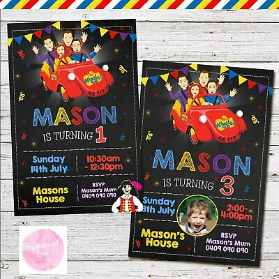 Personalised The Wiggles Birthday Invitation Invites Party Photo