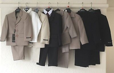 *NEW* JOB LOT of 8 BOYS SUITS ALL BRAND NEW WITH TAGS  age 2yrs to 5yrs