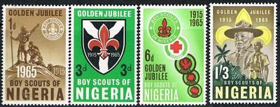 Nigeria. 1965. Scouts. 50th Anniversary. Full set. Mint.