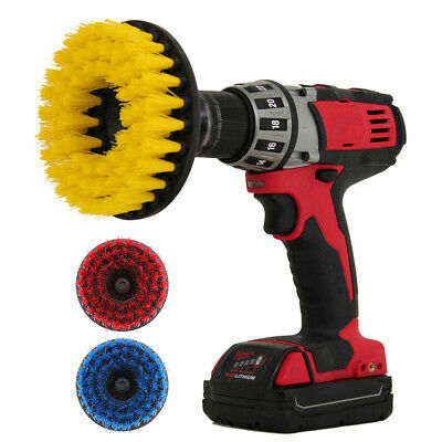 5 inch drill brush for Car Carpet wall and Tile cleaning Medium Duty Drill brush
