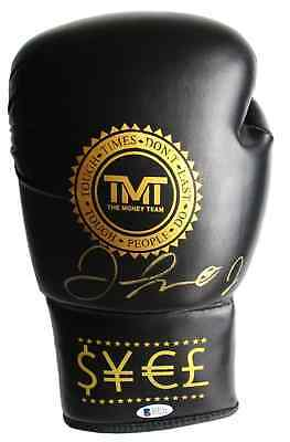 Floyd Mayweather Jr Signed Black TMT Boxing Glove Beckett BAS
