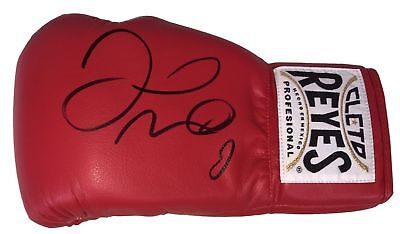 Floyd Mayweather Jr Signed Red Cleto Reyes Left Hand Boxing Glove Beckett BAS