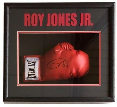 Roy Jones Jr Signed Red Right Hand Everlast Boxing Glove Shadowbox JSA ITP