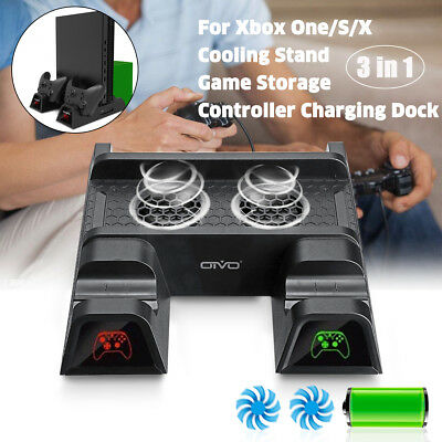 Multi-functional Cooling Stand Cooler Fan Controller Charger Disc for XBOX ONE X