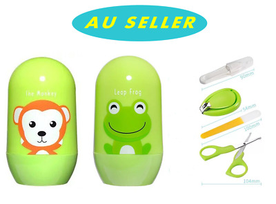 4PCS Infants Baby Safety Grooming Kit Manicure Set Toddler Nail Clipper File