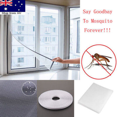 2X Magnetic Window Mesh Door Curtain Snap Net Mosquito Fly Bug Insect Screen AU