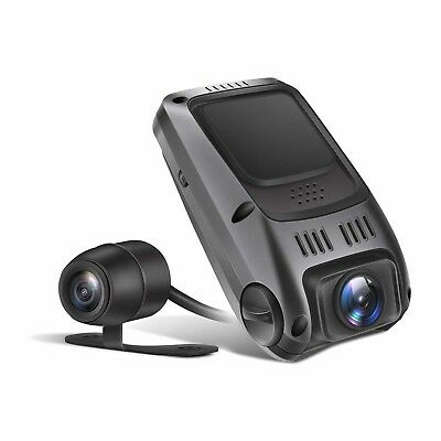 TryAce T7P Dual Dash Cam Full HD1080P 170 Degree Wide Angle  with G-Sensor,WDR,