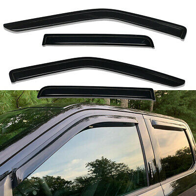 Window Visor Vent Shade Rain Guards Fit For 2015-2018 Ford F150 Supercrew