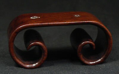 Antique Vintage Chinese Hardwood Scroll Stand