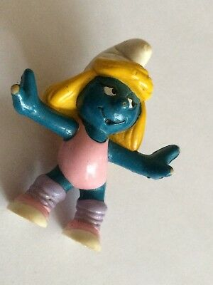 VINTAGE SMURFETTE EXERCISE shipping is for up to 10 smurfs
