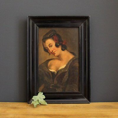 18th Century Portrait Of A Lady - Small Original Antique Painting