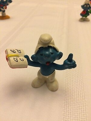 VINTAGE SMURF TEACHER shipping is for up to 10 smurfs