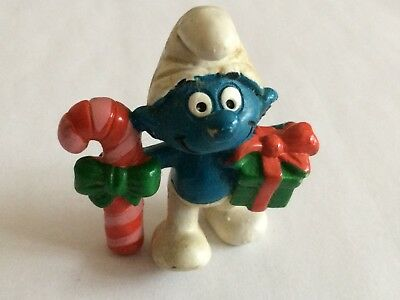 VINTAGE SMURF CANDY CANE AND GIFT shipping is for up to 10 smurfs