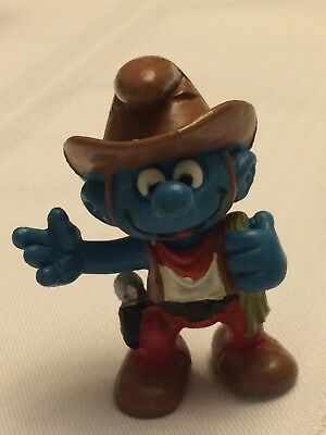 VINTAGE SMURF COWBOY shipping is for up to 10 smurfs