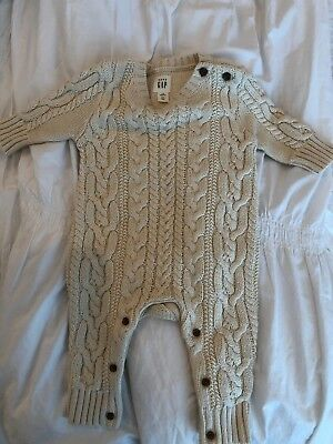 Lot Of 2 Baby Gap Brand New Sweater One Piece And Sweater 0-3m $50 Value