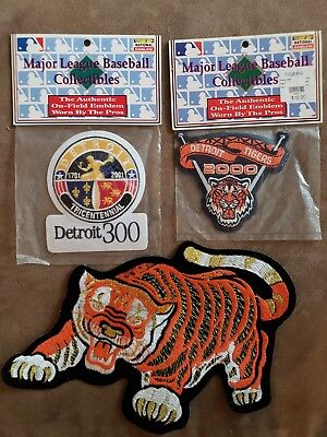 (3) Vintage Detroit Tigers Patches. All Are In The Pictures  Look Very Nice Lot