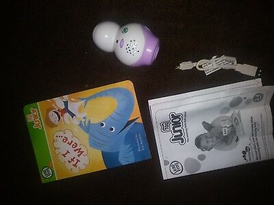 """Leap Frog Junior Tag Reader in Purple, """"If I Were"""" Book, USB cord, & manual LOT"""