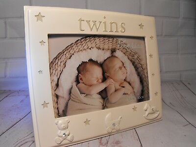 Twins Photo Frame , Twins Photograph Frame Gift Girl / Boy Twins Photo Present