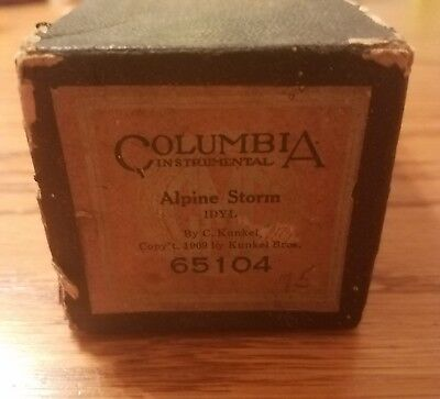VTG 1909 Columbia Instrumental Player Piano Roll 65104 Alpine Storm Idyl