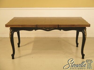 L40211E: KARGES Black & Walnut Top French Refactory Dining Room Table
