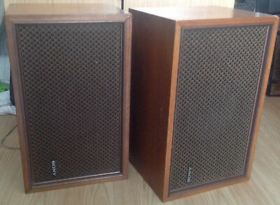 Vintage Sony SS 510 Bookshelf Speakers 1970s Retro Matching Pair