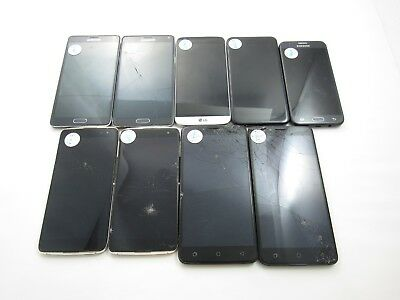 Parts and Repair Lot of 9 Assorted Phones T-Mobile Check IMEI 4PR-8111