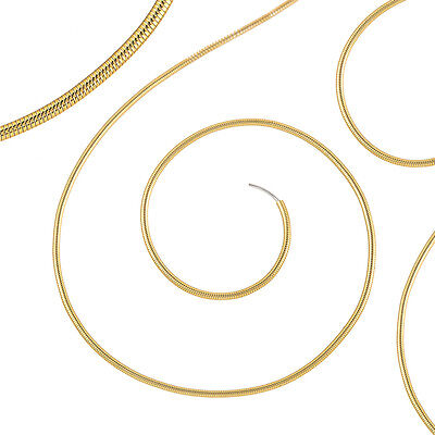 """Beadsmith French Wire/Gimp/Bullion 0.7mm Thick Fine (New Gold) 16"""" Coil (J38/1)"""