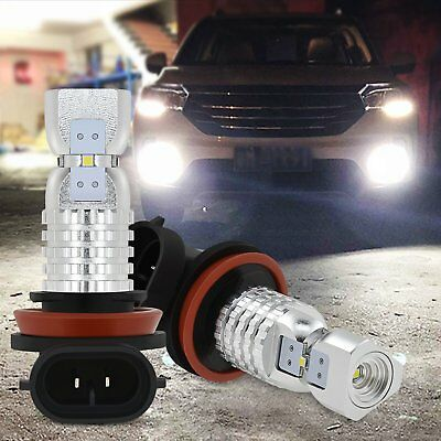 2x H8 H11 H16 6000K White 100W High Power 2020smd LED Fog Light Driving Bulb DRL