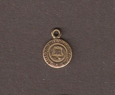 BellSouth Telecommunications Charm 1/10th 10K Gold for Necklace or Bracelet