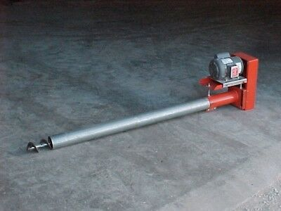 "6"" Bulk Tank Feed Material Grain Screw Conveyor Auger 17' Long"
