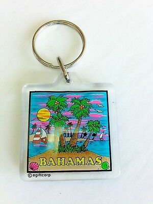Bahamas Key chain / ring travel souvenir Vintage Collectible coconuts agiftcorp