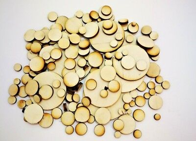 Wooden Circles Laser Cut Birch Blank Embellishments Craft Decorations Shapes