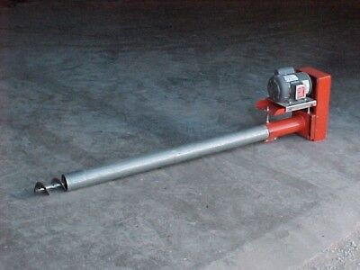 "e4"" Bulk Tank feed seed Screw Conveyor Auger 17' long USA"
