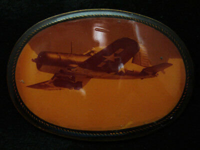 RA13101 VINTAGE 1970s **US AIR FORCE BOMBER AIRPLANE** MILITARY BELT BUCKLE