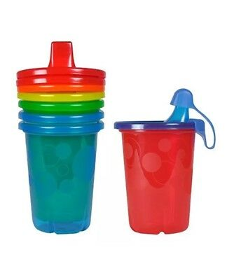 The First Years Take & Toss Spill-Proof Sippy Cups, 10 Ounce, 4 Count Reusable