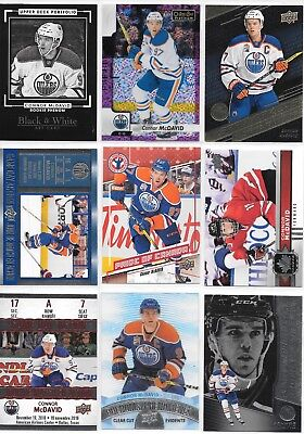 U PICK'EM LOT (40+) Connor McDavid Base RC Inserts Parallels SP Collection Cards