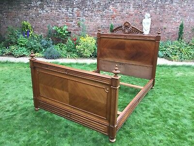 Wow A Simply Magnificent French wooden Antique Bed