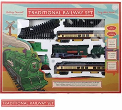 Giant Traditional Classic Steam Train Set Railway Track Xmas gift toy Christmas