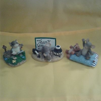 Charming Tails Lot of 3 figurines item# 7-26-18-24