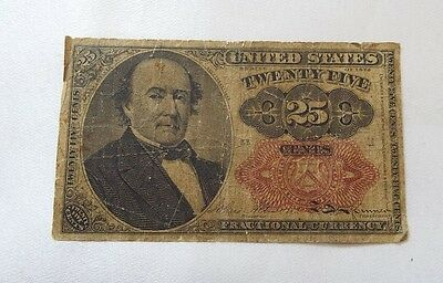 US Fractional Currency 25-Cent Note 5th Issue VERY GOOD