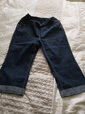 Cropped Maternity Jeans From E-vie Size 18