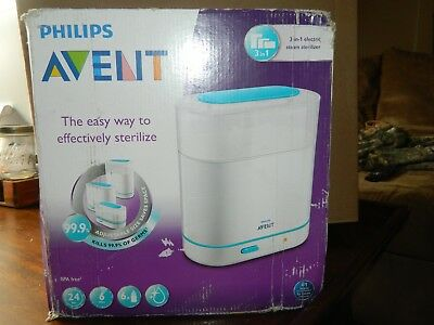 Philips Avent 3 in 1 electric sterlizer, white