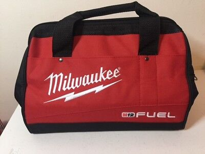 "2 Qty- Milwaukee 13"" M12 Fuel Heavy Duty Canvas Drill Tool Bag 2553-20 2554-20"