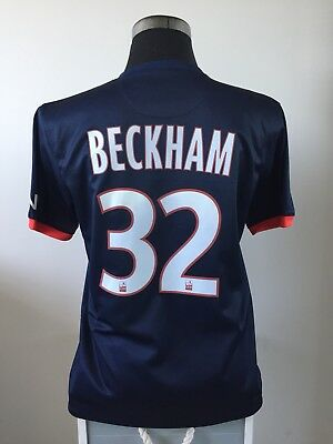 BECKHAM #32 Paris Saint Germain PSG Home Football Shirt 2013/14 (M)