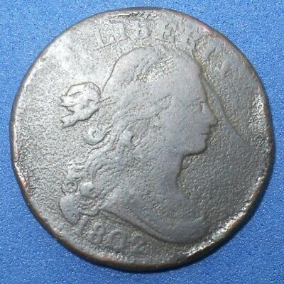 Antique Us  Coin Coins 1802 One  Cent Copper Penny