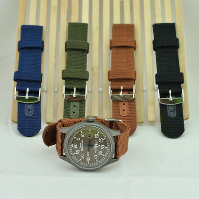 Gents 2 piece woven strong nylon watch strap 18 mm - 24 mm  +2 pins