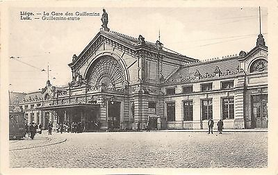 B93627 liege la gare des  guillemins real photo  belgium