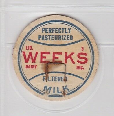 Week's Dairy Inc. milk cap-Chicopee, Massachusetts
