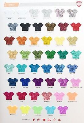 SISER Glitter Heat Transfer Vinyl --- all colors available!