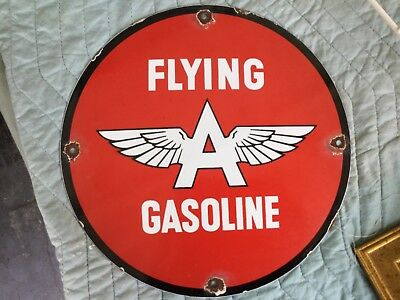 Flying A Porcelain sign, 11.75? round,single sided,Great condition!